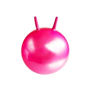 Large pink ball for fitness and gymnastics isolated